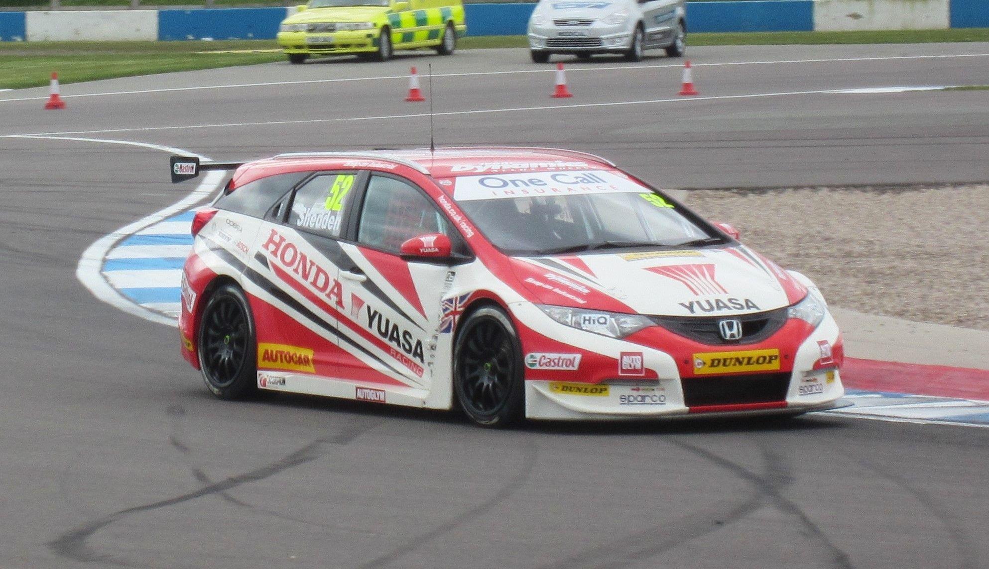 Honda Civic Tourer Gordon Shedden Btcc Honda Civic Sports Car