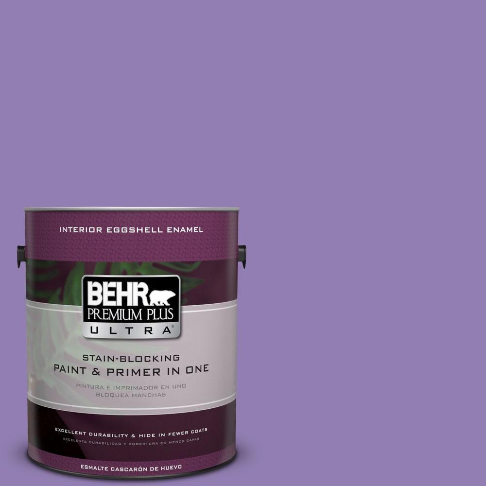 BEHR Premium Plus Ultra 1-gal. #PPU16-4 Purple Agate Eggshell Enamel Interior Paint