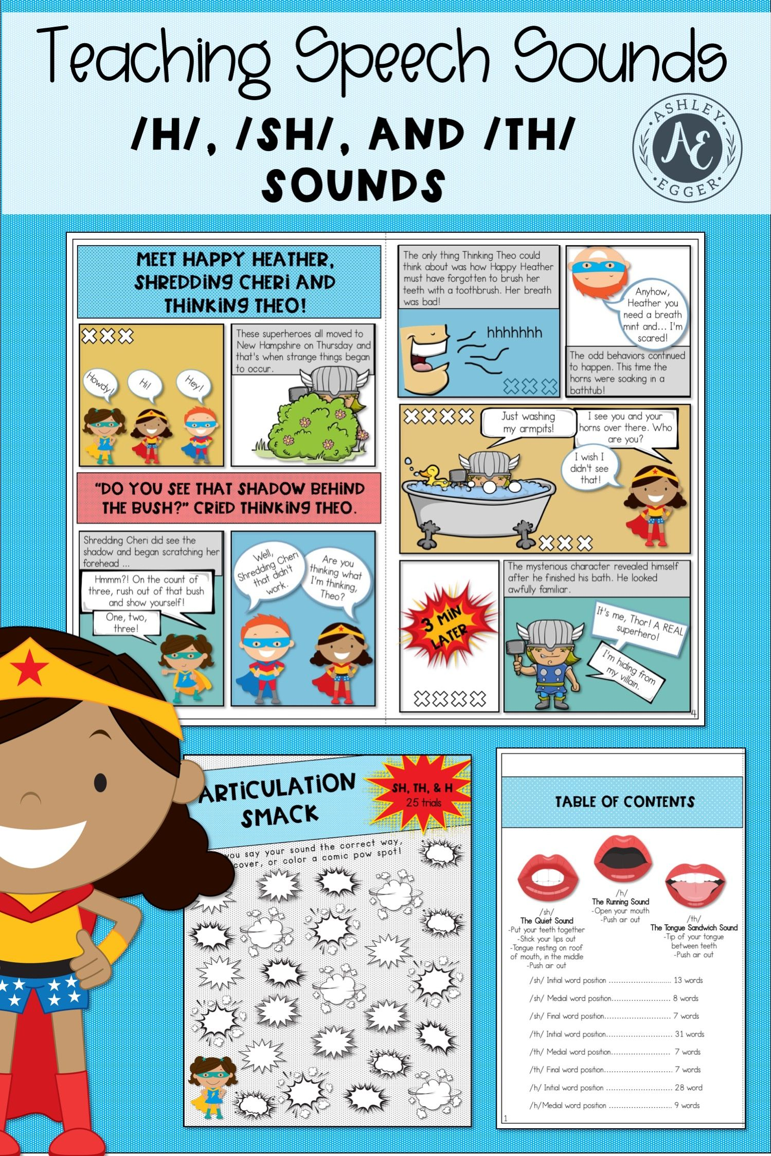 Articulation Activities And Comic Book Speech Therapy Sh