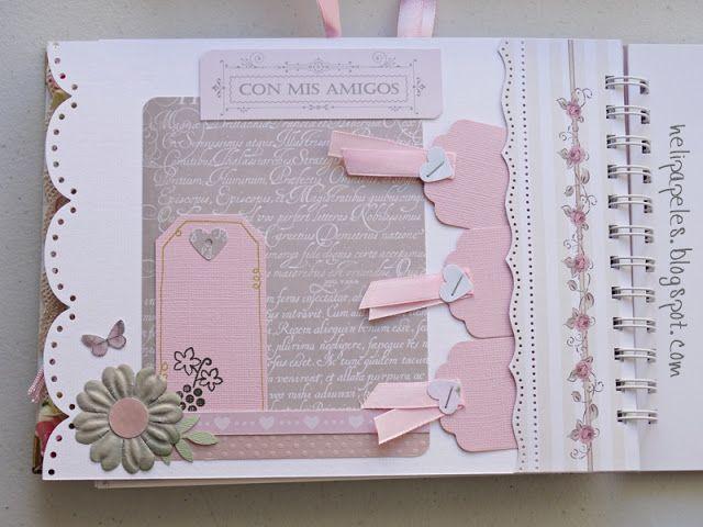 Heli papeles libro de firmas para comuni n ni a libros de firmas y tarjetas pinterest - Decorar album de fotos por dentro ...