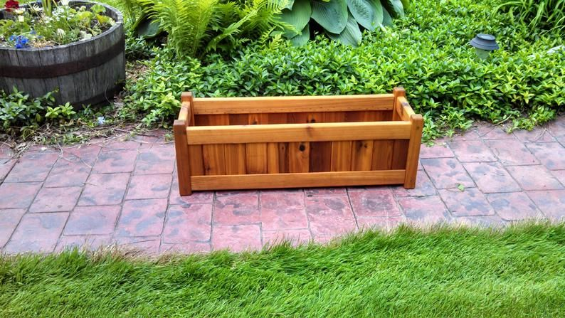 Cedar Planter Box (10  x 30  rectangle) is part of Planter boxes, Cedar planters, Garden planter boxes, Cedar planter box, Succulent planters box, Wood planters - unfinished  Overall dimensions 10  tall x 10 5  wide x 30 5  length Weighs 10 lbs  All planters have a solid cedar bottom  Plants not included