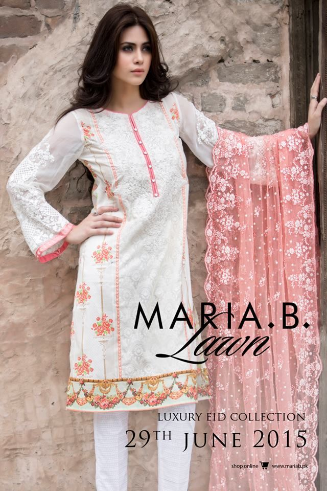 Best Eid Women Dresses Maria B Mbroidered Eid Collection 2018