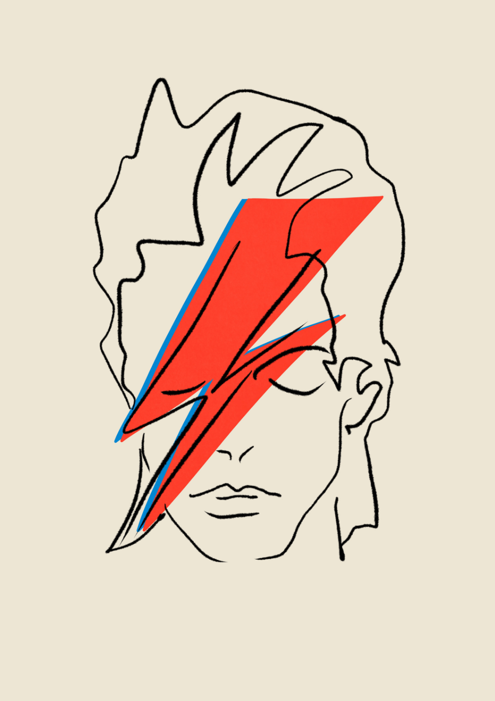 Photo of David Bowie POSTER | Music Poster, Home Decor, Wall Art, Bowie Poster, Bowie, David Bowie, David Bowie Print, Art Ziggy Stardust