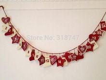 Free shipping 2.9-3m Activities Scene Arrangement Handmade Calendar String Diy Christmas decoration 1pcs/lot 18010013(2.9-3H1)(China (Mainland))