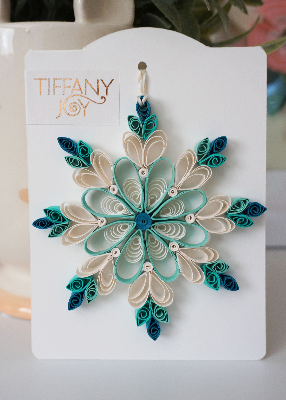 Aqua Blue Paper Quilled Snowflake Ornament   Etsy