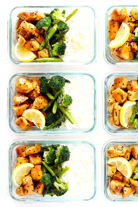 Honey Lemon Chicken Bowls (Meal Prep) images