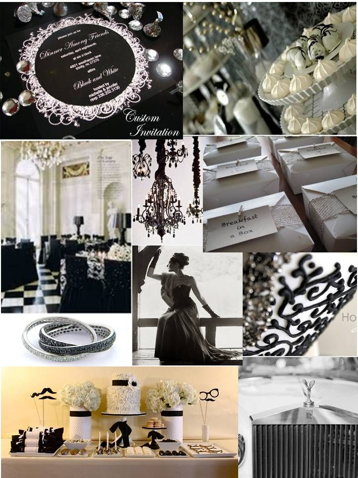 Black White Cocktail Party Cocktail Party Decor Birthday
