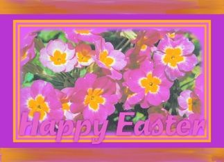 Happy Easter-flowers Greeting Card