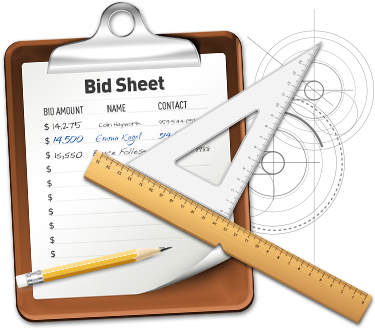 Link To Download Free Professional Bid Sheets For Your Silent