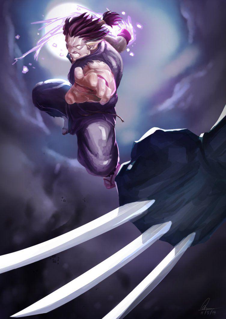 Gouki VS Wolverine by Kumsmkii
