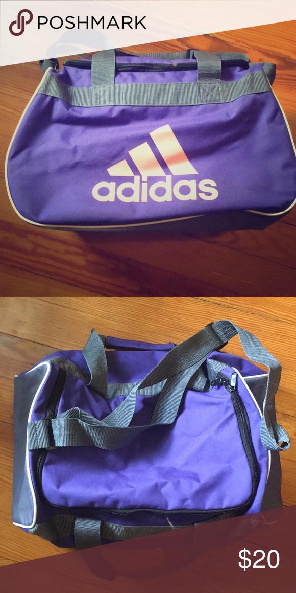 9aa882a2e8e558 Gym bag BRAND NEW purple, grey and peach adidas gym bag. Over he shoulder  strap and handles. adidas Bags Crossbody Bags