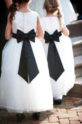 Black Bow Flower Girl Dress Flower Girls Ring Bearers