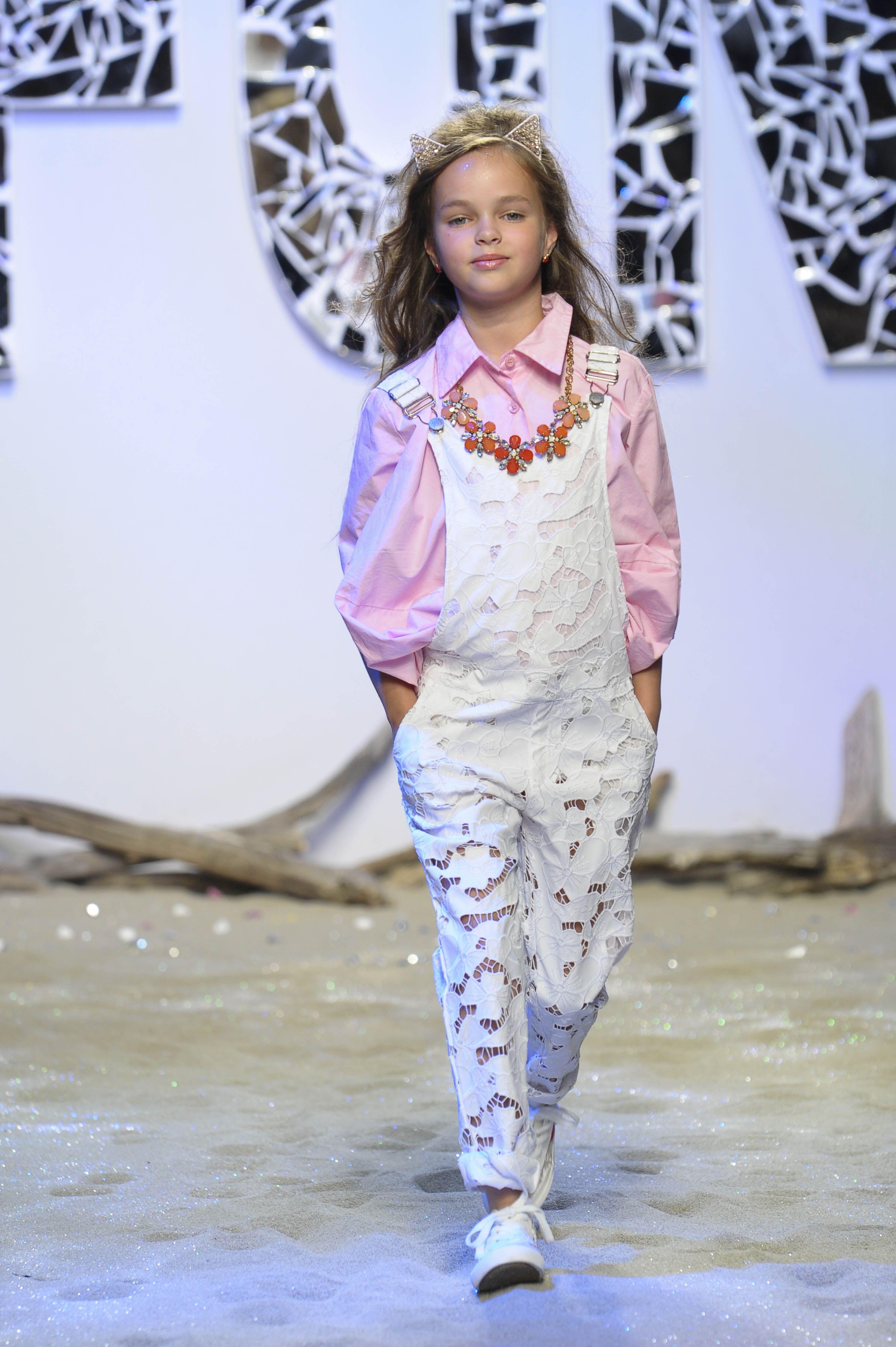 Lace kids jumpsuit by Fun \u0026 Fun at Pitti Bimbo for spring/summer 2016  kidswear