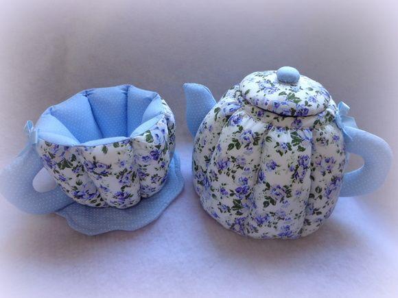 Jogo para Chá em tecido Personalizado
