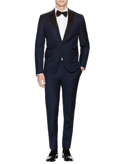 d79d1a600af Slim Fit Peak Tuxedo by Yves Saint Laurent Pour Homme at Gilt and it's  Blue!...NAVY that is....RR