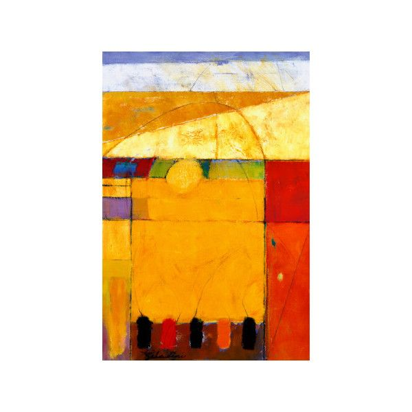 Golden Field Wall Art Print ($35) ❤ liked on Polyvore featuring ...
