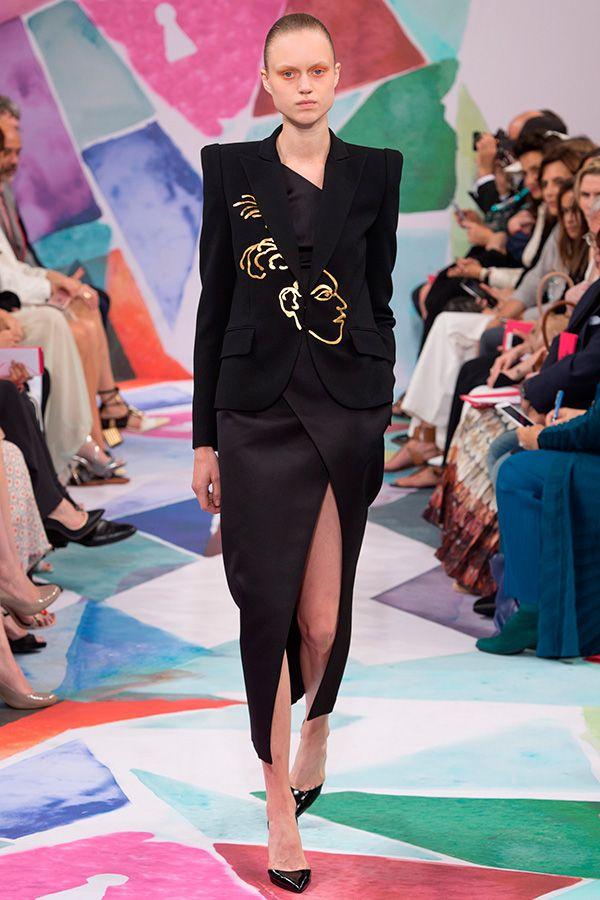 Desfile semana de moda em Paris - Saia fenda