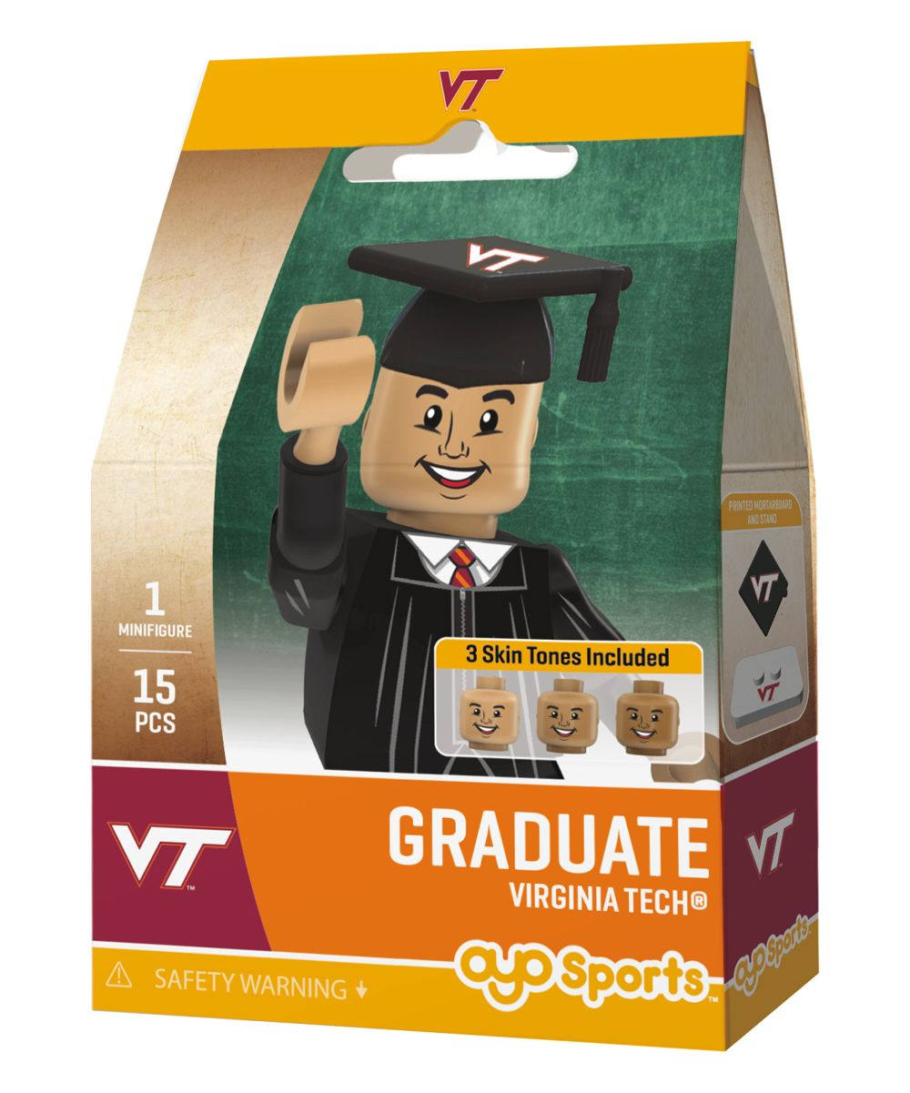Virginia Tech Hokies Male Graduate Action Figure Kit