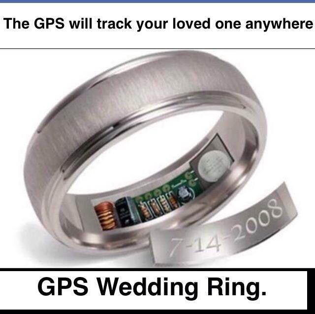 Too Funnygps Wedding Ring