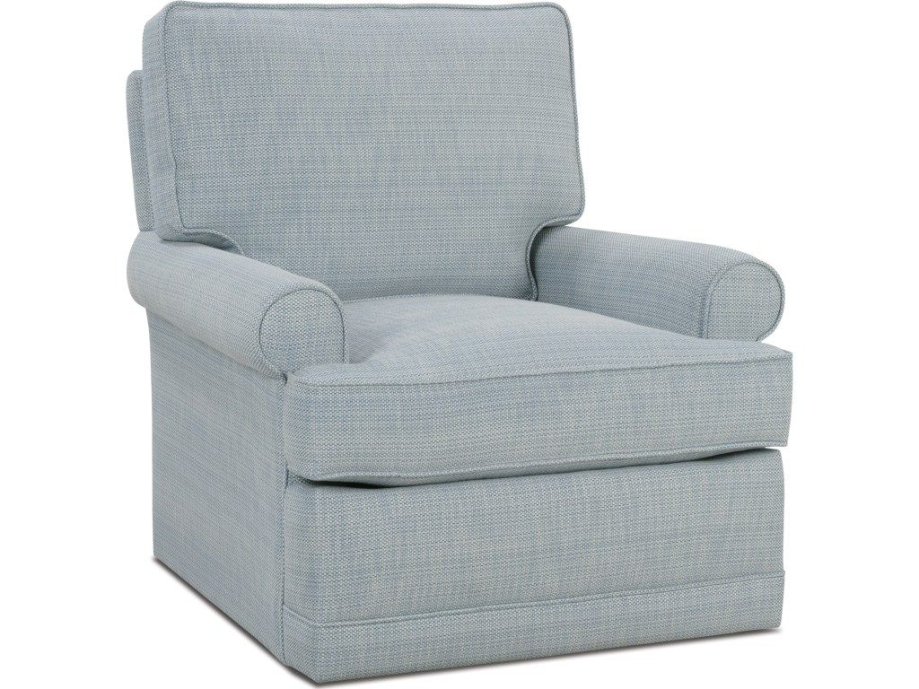 Charming Rowe Sully Traditional Small Swivel Glider   Becker Furniture World    Upholstered Chairs