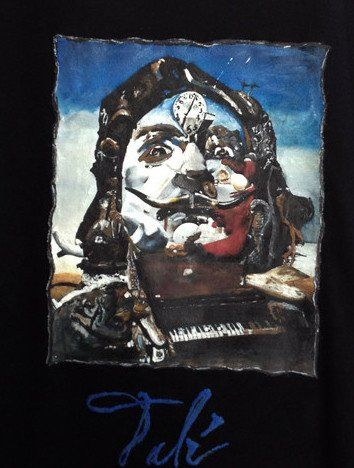 Salvador Dalì T-shirt Dalì Self Portrait Tshirt Art To Wear Painted 3d