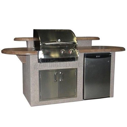 St James Outdoor Kitchen With Supercast Mocha Top And Cook Number Grill Two Piece Island With B Outdoor Kitchen Island Outdoor Kitchen Outdoor Kitchen Design