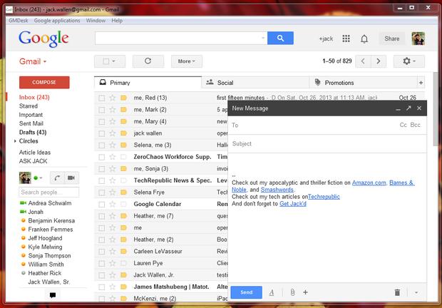 Five free Gmailfriendly email desktop clients Gmail