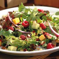 Raspberry, Avocado, and Mango Salad Recipe    Prep time 15 min  Contains nuts