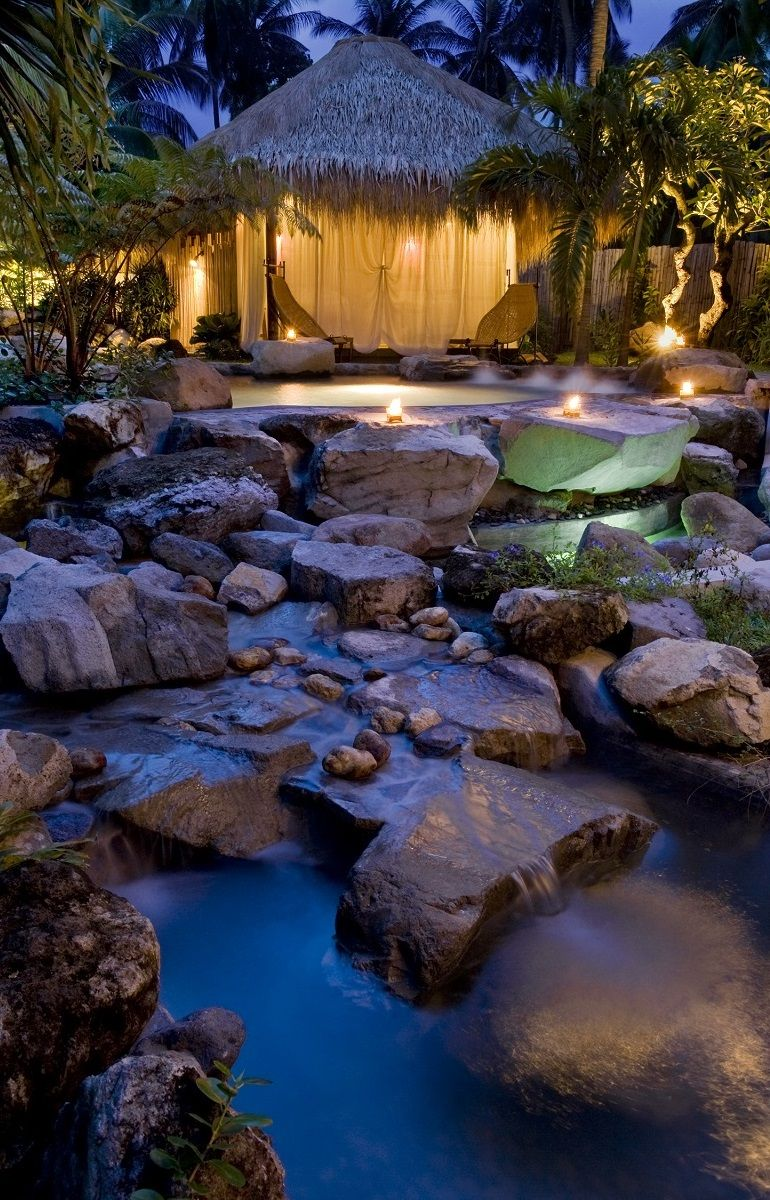 Our secret enchanted spa garden, perfect any time but extra