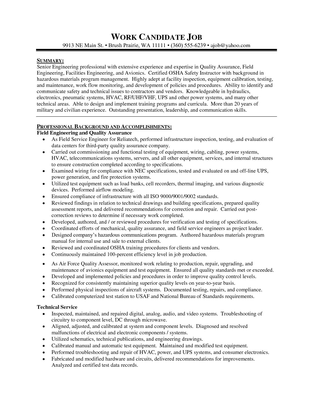 Supervisor Job Description For Resume Resume Production Manager Summary Supervisor Pin Pinterest  Home
