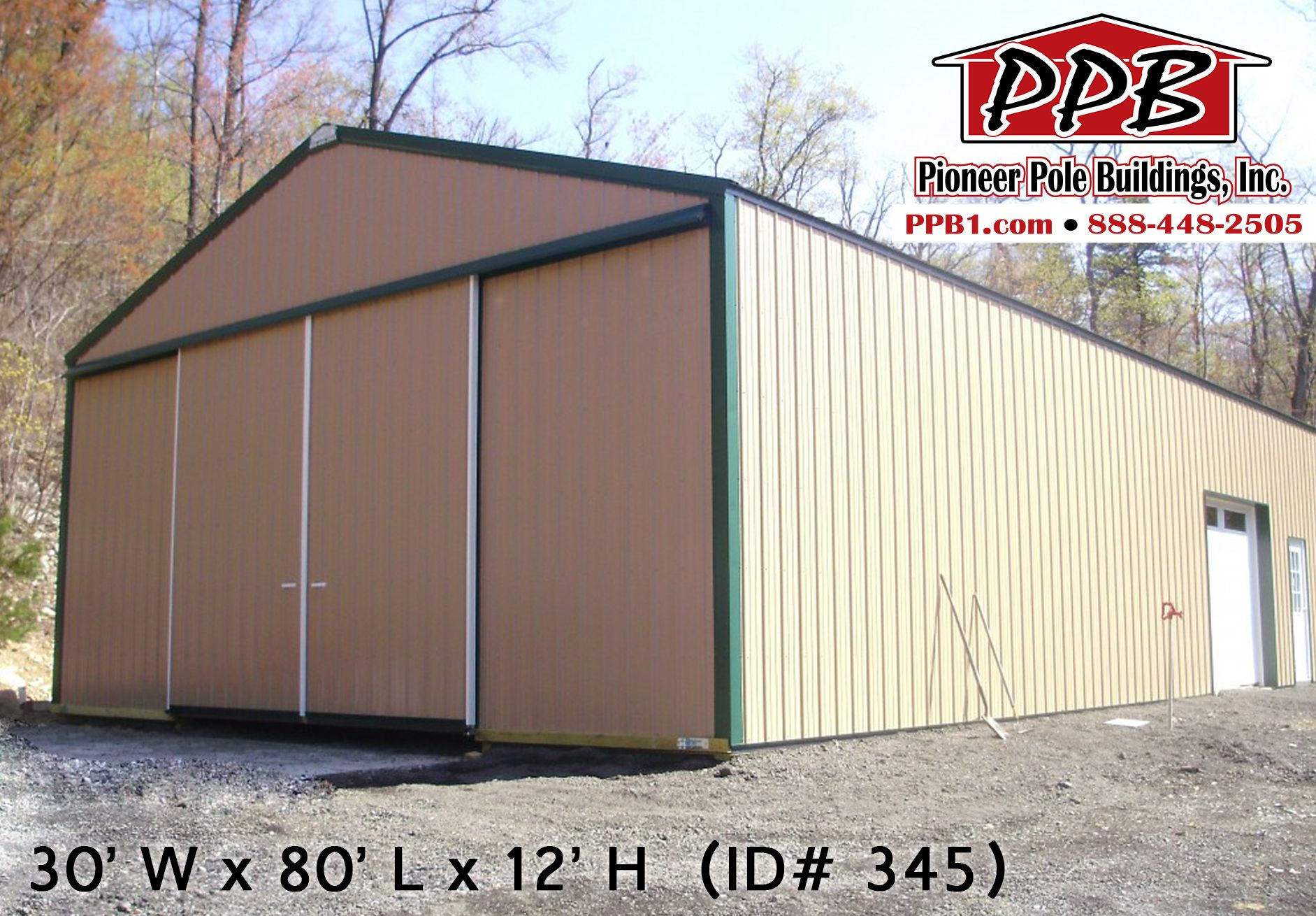 30' W x 80' L x 12' H Agricultural Building (ID 345
