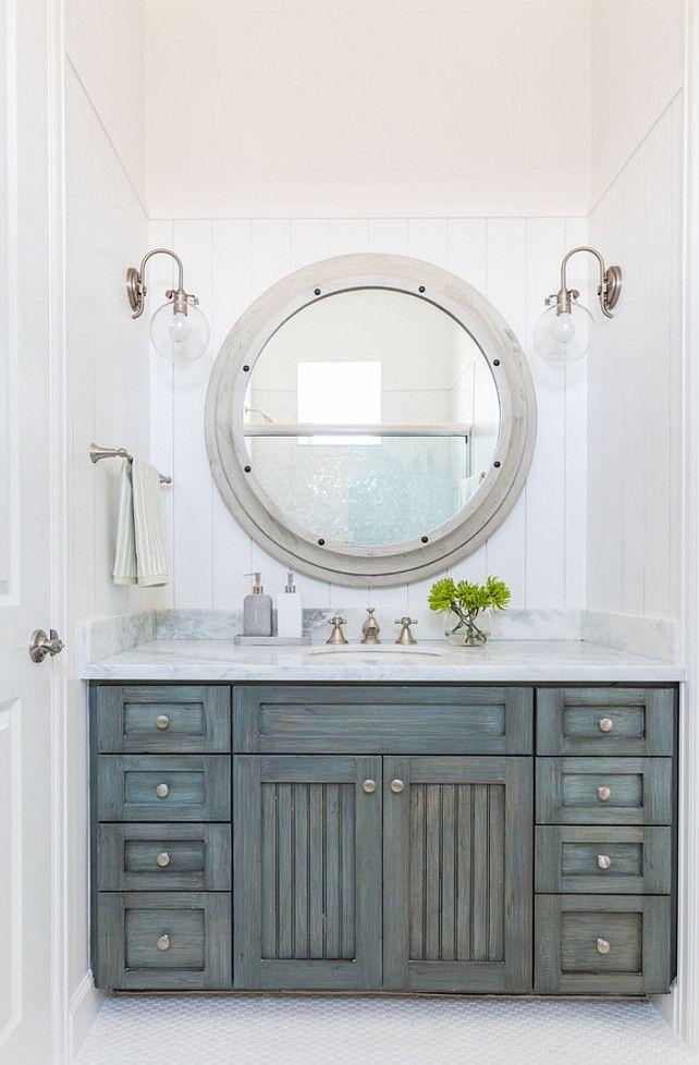 Delightful Barn · Distressed Bathroom Cabinet.