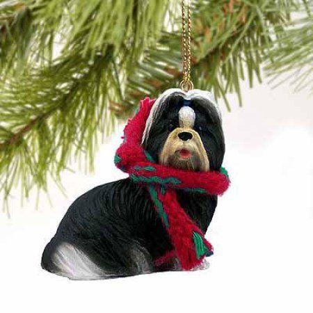 Shih Tzu Miniature Dog Ornament - Black & White by Conversation Concepts - Walmart.com