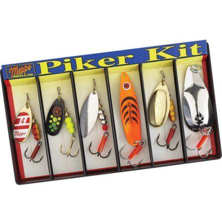 Mepps Piker Kit, Plain Lure Assortment, Multicolor