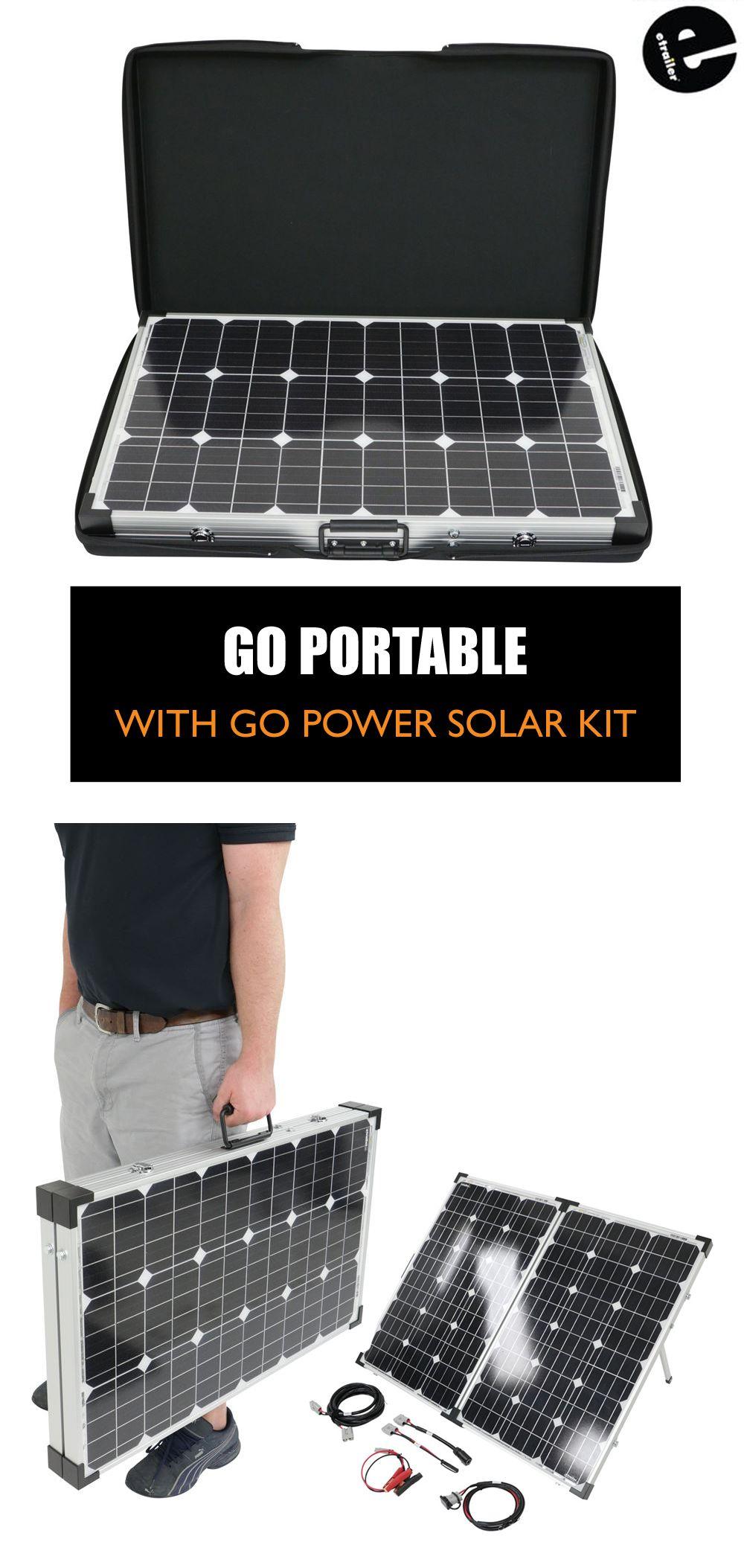 Go Power Portable Solar System With Digital Solar Controller 130 Watt Solar Panel Go Power Rv Sola Rv Solar Panels Solar Kit Best Solar Panels