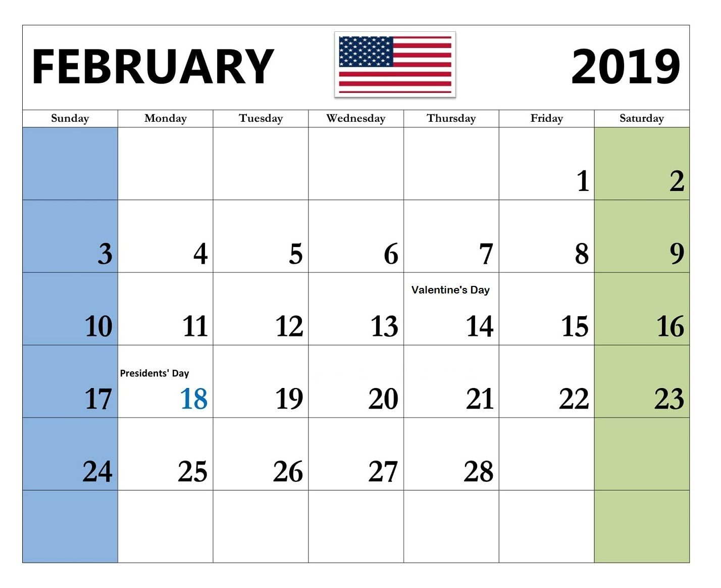 2019 February Calendar With Holidays Usa Feb 2019 Calendar With Holidays USA #feb #feb2019 #holidays