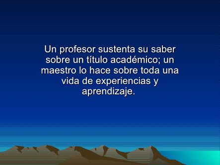 Profesor / maestro