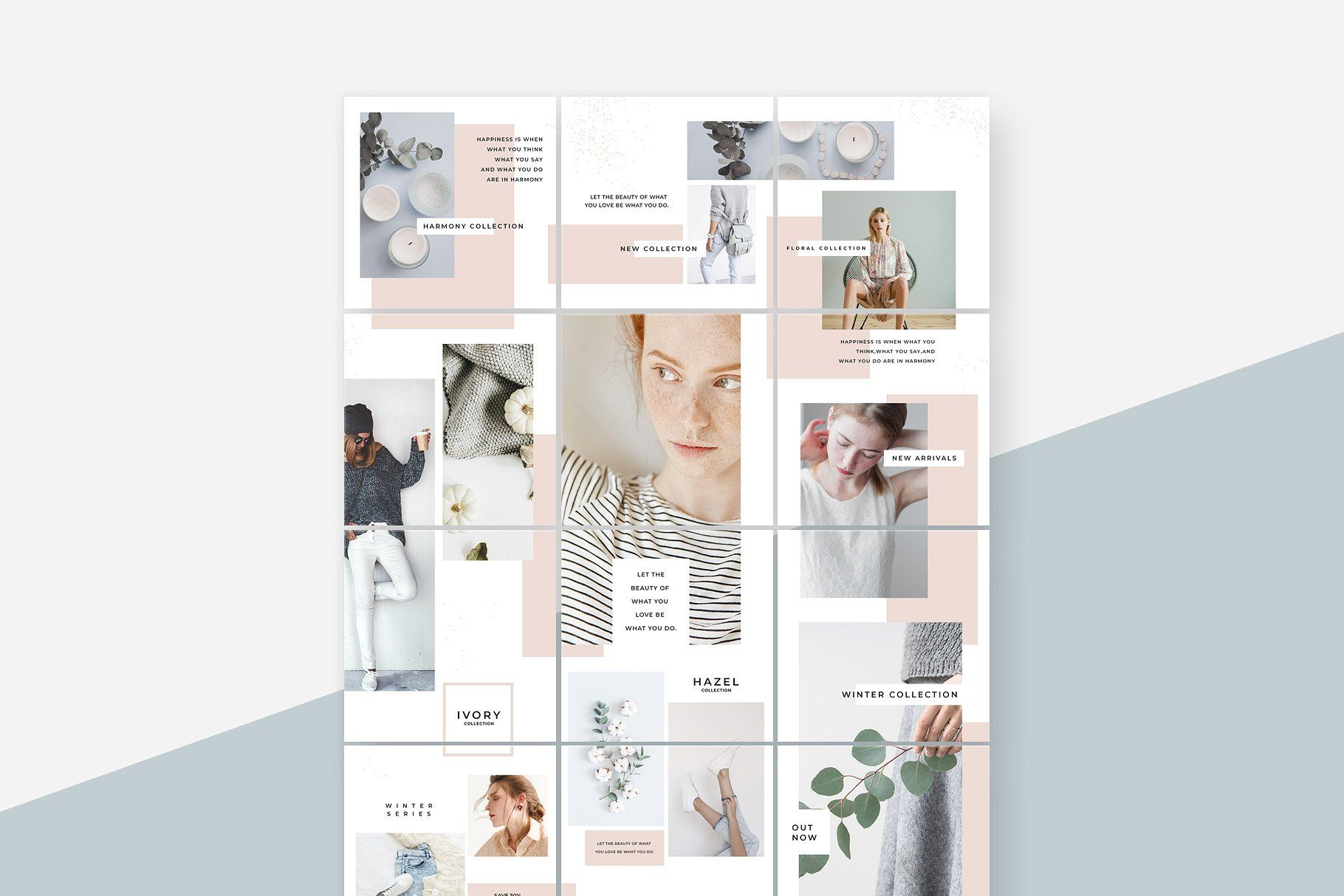 Magnolia Instagram Puzzle Template TemplatePuzzleFully