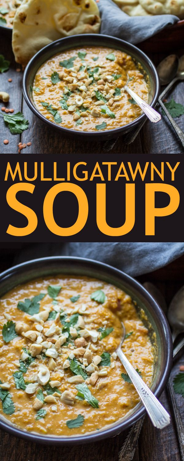 This fragrant soup is spiced with curry and made from creamy red lentils, carrots, apples, and coconut milk. Make a double batch and freeze the leftovers! #mulligatawnysoup