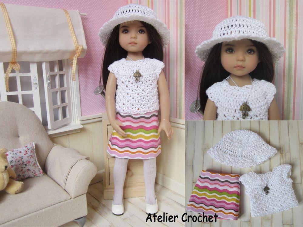 Ensemble Althéa couture et crochet pour poupée Little Darling