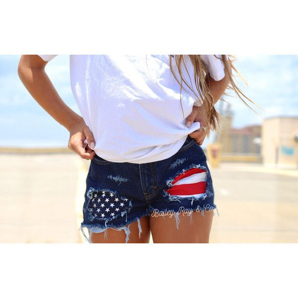 American Flag Shorts Levis High Waisted Denim Shorts 25 Liked On Polyvore Featuring American Flag Shorts Distressed High Waisted Shorts High Waisted Denim