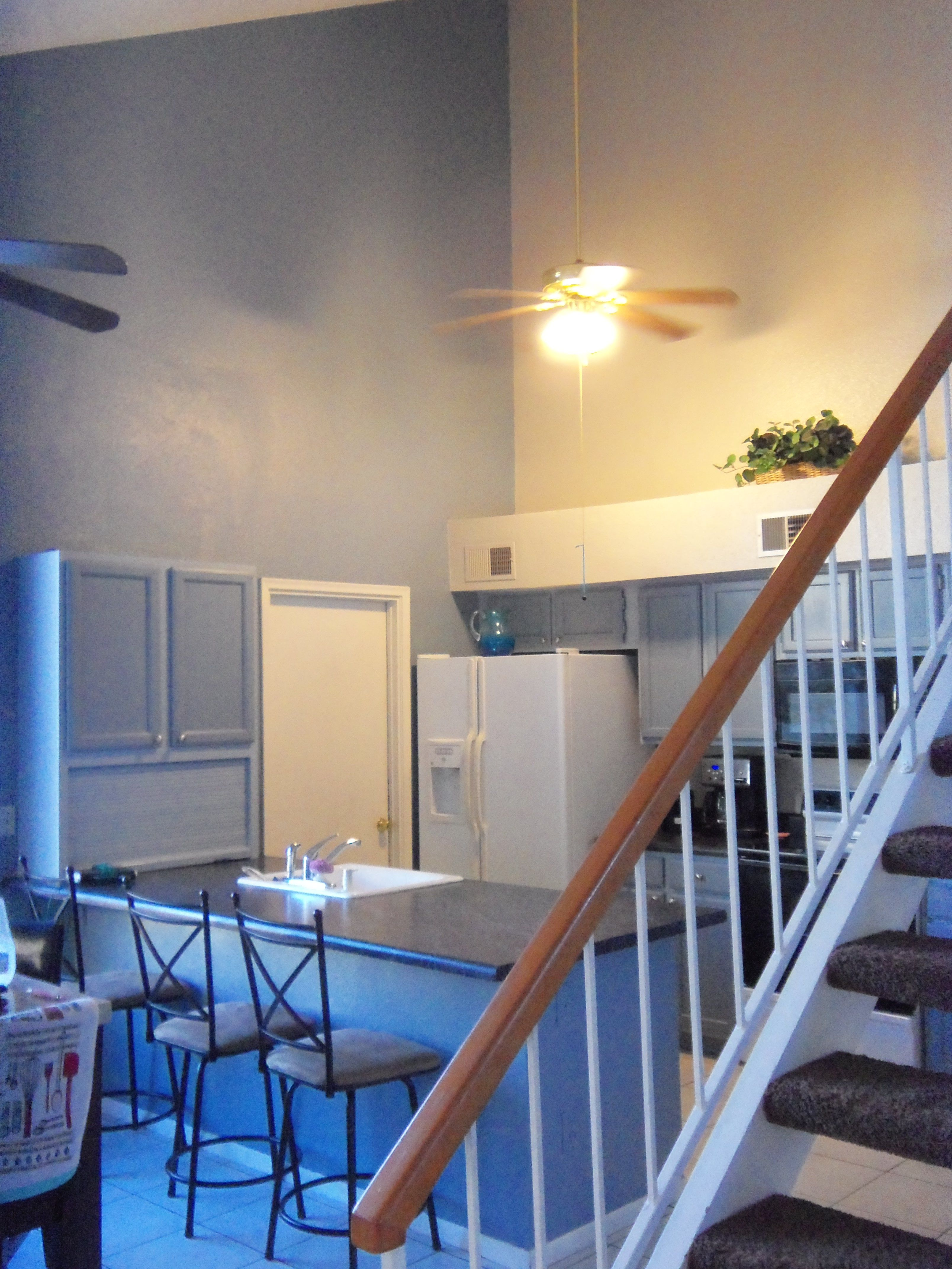Mesa AZ Complete Kitchen Cabinet Refinish In 2 Colors, With Custom Accent  Wall, Island