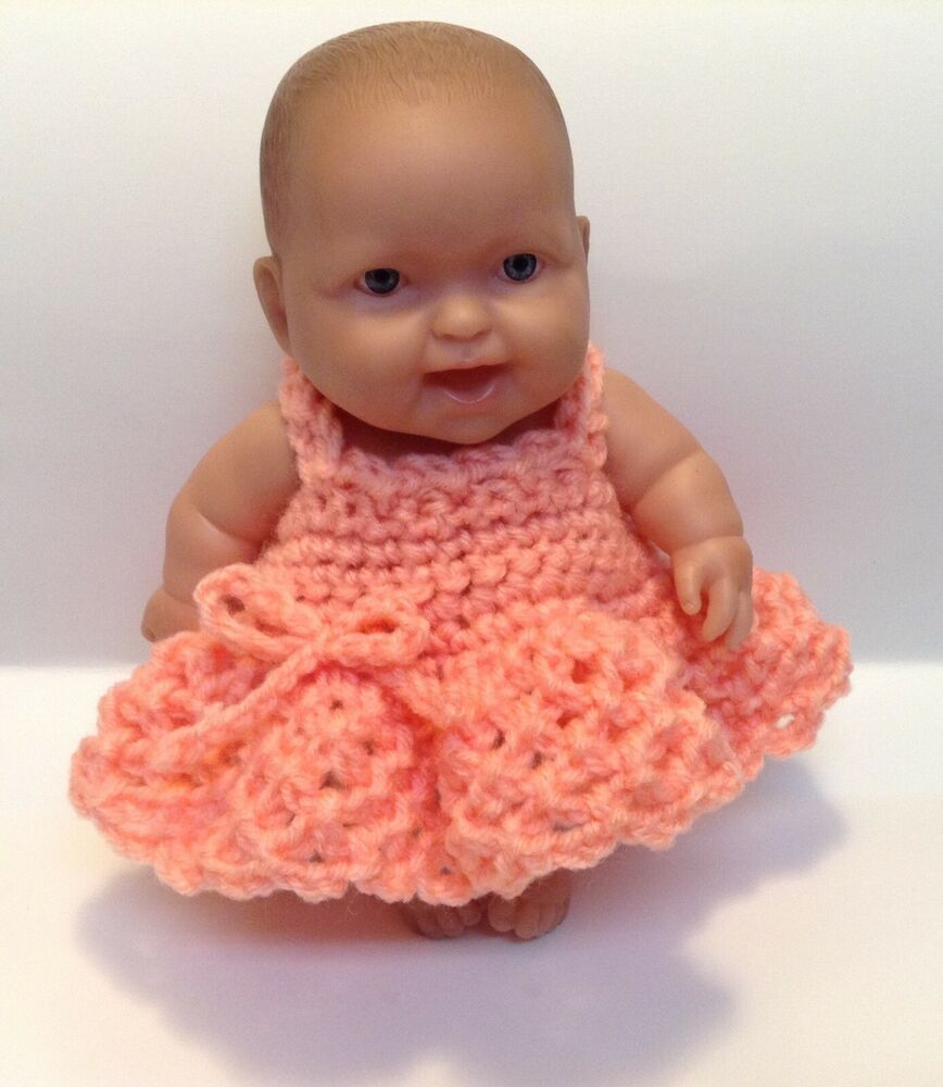 Fits Lots to Love,reborn,silicone 8 inch Doll Clothes Dress color of choice