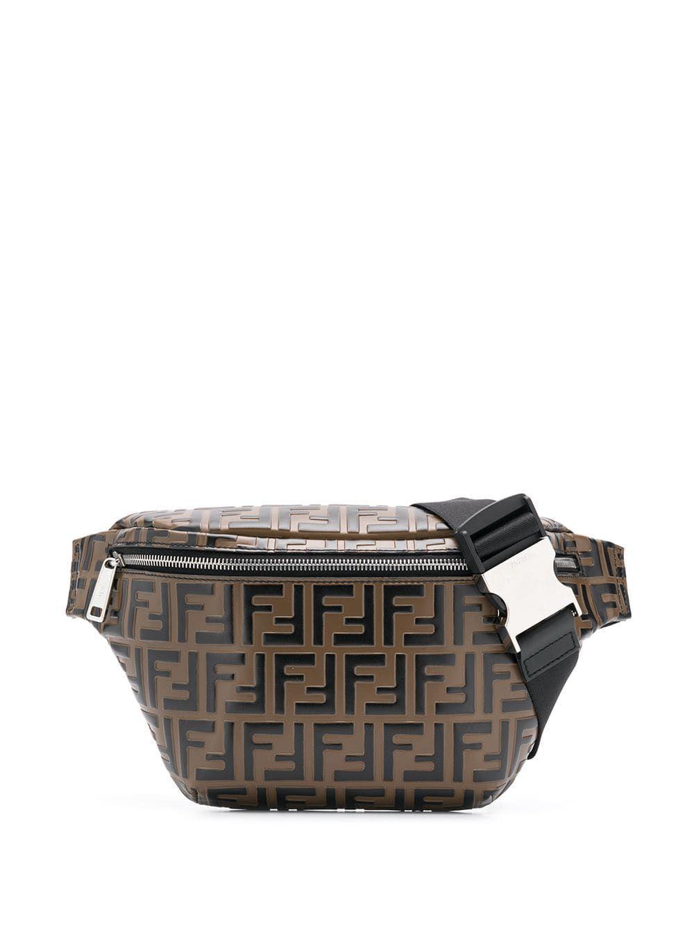 00072201 FENDI FENDI FF MONOGRAM BELT BAG - BROWN. #fendi #bags #leather ...