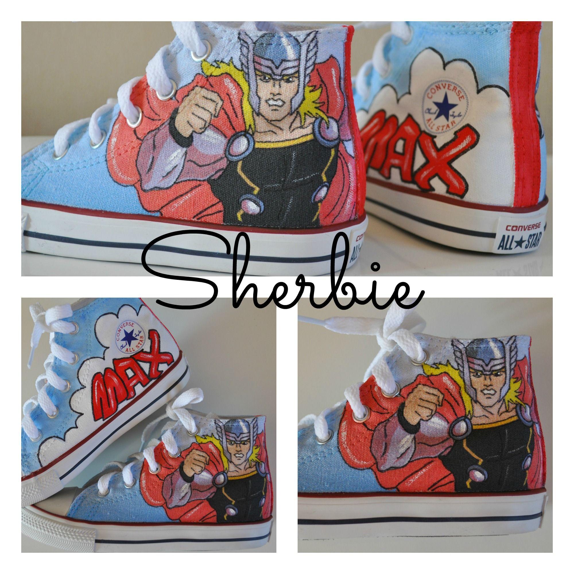 Thor custom Converse shoes e5a9fa21d
