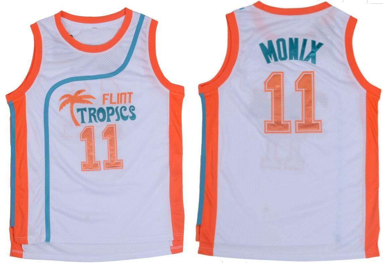 06f1c9a8f80 Embroidered Flint Tropics No. 11 Ed Monix Jersey Semi Pro Movie ...