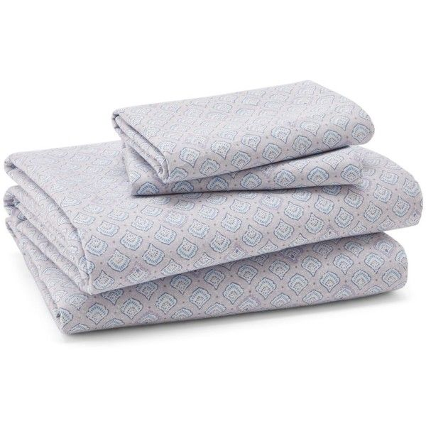 Sky Oriana Sheet Set, California King ($160) ❤ liked on Polyvore featuring home, bed & bath, bedding, bed sheets, light grey, california king bedding, cotton bed sheet set, light grey bedding, cal king bedding and cal king bed sheet sets
