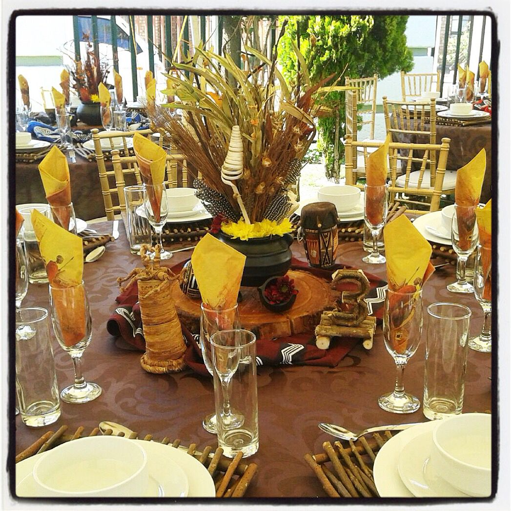 Traditional african wedding centerpieces and decor facebook traditional african wedding centerpieces and decor facebookjoburgtents or secundatentsevents junglespirit