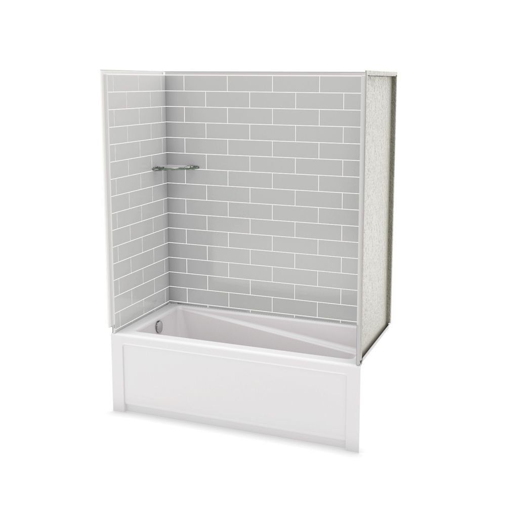 Utile Metro Soft Grey Tub Wall Kit With Avenue Tub Left Hand ...
