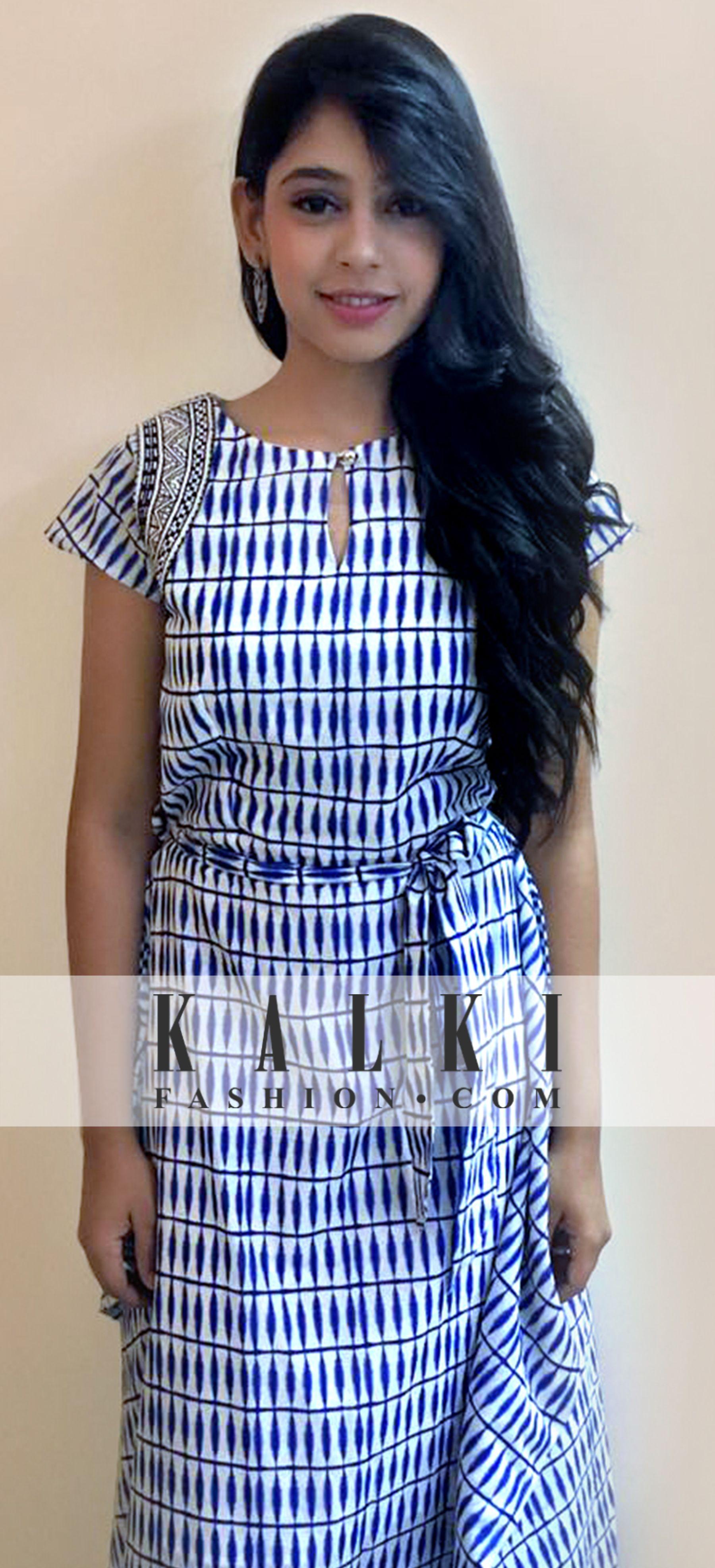Neethi Taylor - Kalki Tie-up Dress   #DIWALI WITH KALKI   Pinterest